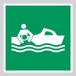 Autocollant Panneau Canot de sauvetage - ISO7010 - E037