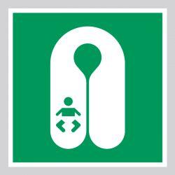 Autocollant Panneau Gilet de sauvetage pour les bébés - ISO7010 - E046