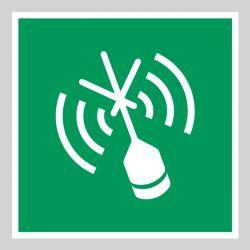Autocollant Panneau Radiobalise de localisation des sinistres - ISO7010 - E052