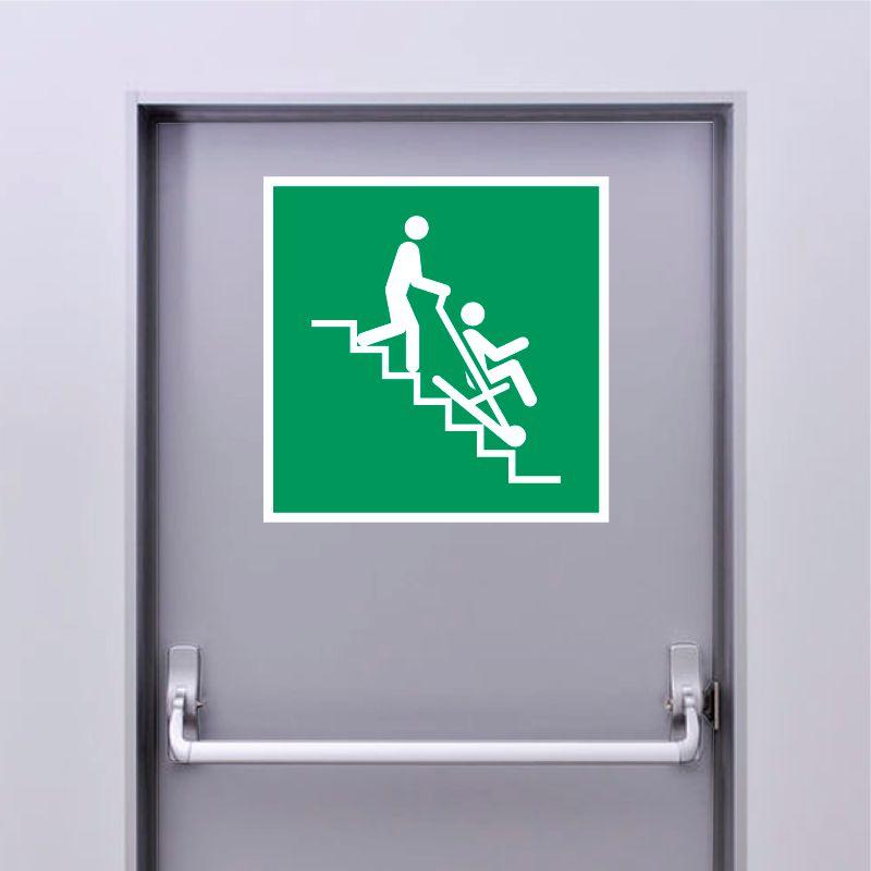 Autocollant Panneau Chaise d'évacuation - ISO7010 - E060