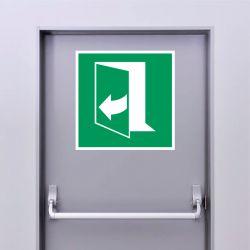 Autocollant Panneau Ouverture de porte en tirant sur le côté droit - ISO7010 - E058