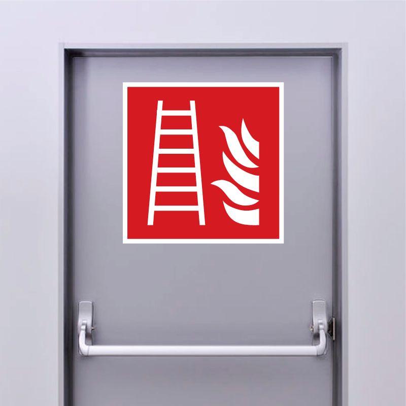 Autocollant Panneau Echelle D'incendie - ISO7010 - F003