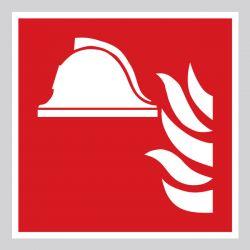 Autocollant Panneau Stockage de matériel de lutte contre l'incendie - ISO7010 - F004