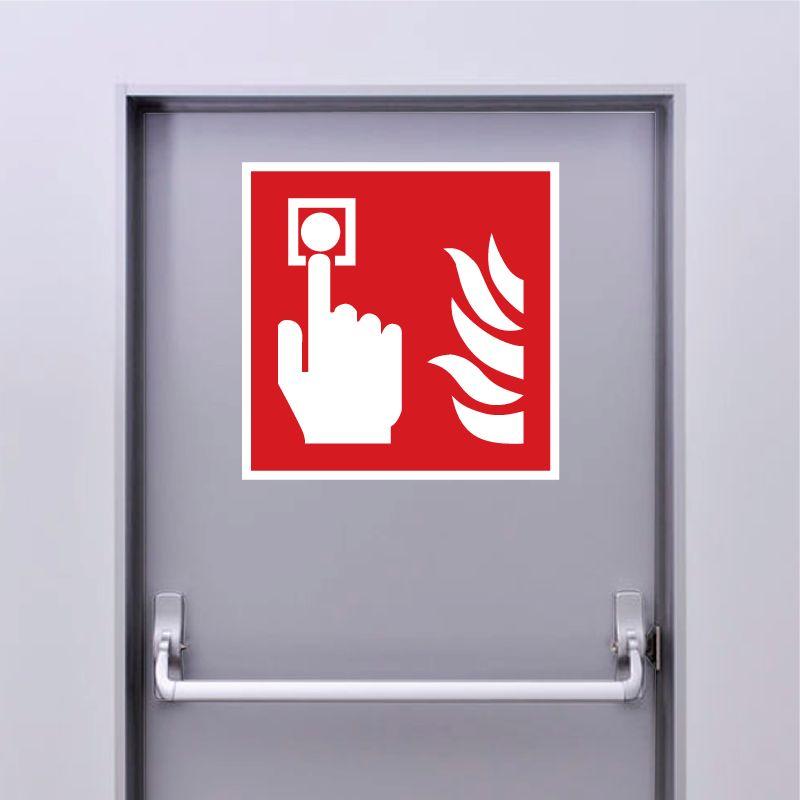 Autocollant Panneau Bouton d'alarme incendie - ISO7010 - F005