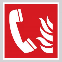 Autocollant Panneau Téléphone d'urgence incendie - ISO7010 - F006