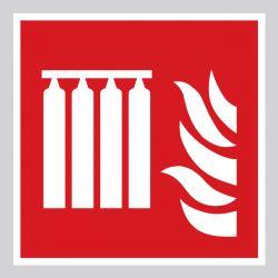 Autocollant Panneau Système fixe d'extincteurs d'incendie en série - ISO7010 - F008