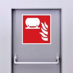Autocollant Panneau Installation fixe d'extinction d'incendie - ISO7010 - F012