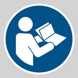Autocollant Panneau Consulter le manuel ou la notice d'instructions - ISO7010 - M002