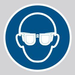 Autocollant Panneau Lunettes de protection obligatoires - ISO7010 - M004