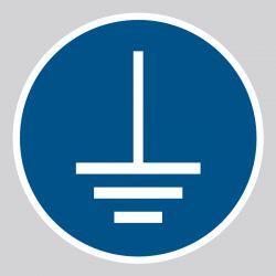 Autocollant Panneau Mise à la terre obligatoire - ISO7010 - M005