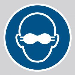 Autocollant Panneau Lunettes de protection opaques obligatoires - ISO7010 - M007