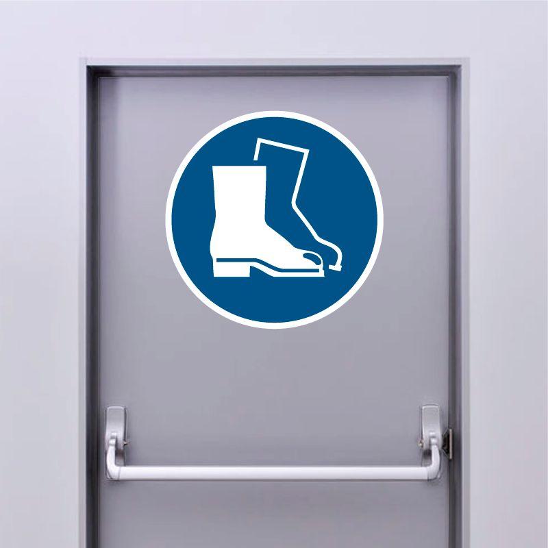 Autocollant Panneau Chaussures de sécurité obligatoires - ISO7010 - M008