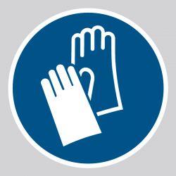 Autocollant Panneau Gants de protection obligatoires - ISO7010 - M009