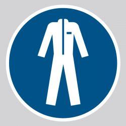 Autocollant Panneau Vêtements de protection obligatoires - ISO7010 - M010