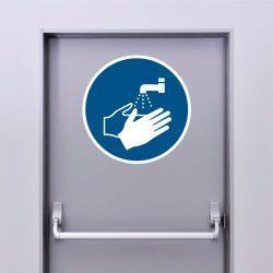 Autocollant Panneau Lavage des mains obligatoire - ISO7010 - M011