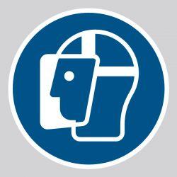 Autocollant Panneau Visière de protection obligatoire - ISO7010 - M013