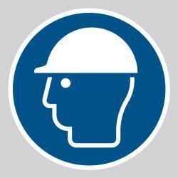 Autocollant Panneau Casque de protection obligatoire - ISO7010 - M014
