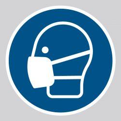 Autocollant Panneau Masque obligatoire - ISO7010 - M016