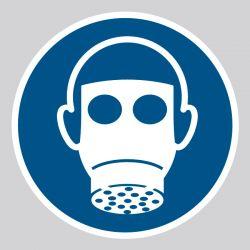 Autocollant Panneau Protection des voies respiratoires obligatoire - ISO7010 - M017
