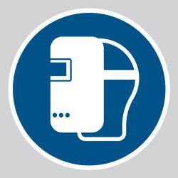Autocollant Panneau Masque de soudage obligatoire - ISO7010 - M019