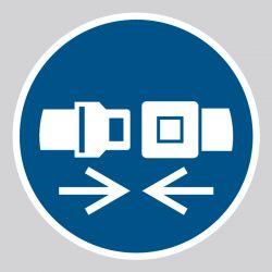Autocollant Panneau Attacher la ceinture de sécurité - ISO7010 - M020