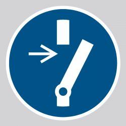 Autocollant Panneau Débrancher avant d'effectuer une activité de maintenance ou de réparation - ISO7010 - M021