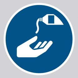 Autocollant Panneau Utiliser une crème de protection - ISO7010 - M022