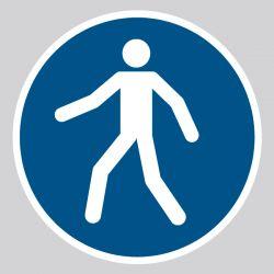 Autocollant Panneau Piétons - Utilisez le passage - ISO7010 - M024