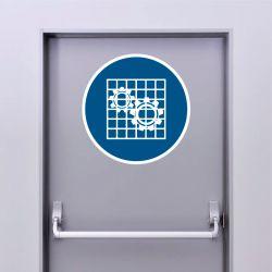 Autocollant Panneau Vérifier la protection - ISO7010 - M027