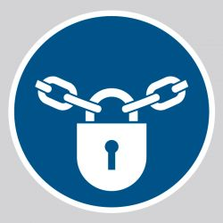 Autocollant Panneau  Verrouillage obligatoire - ISO7010 - M028