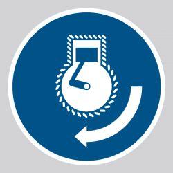 Autocollant Panneau Démarrer le moteur dans l'ordre de lancement - ISO7010 - M038