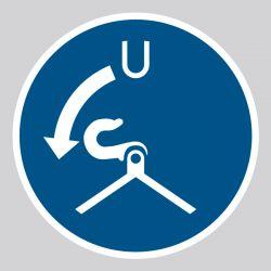 Autocollant Panneau Libérer les garants dans l'ordre de lancement - ISO7010 - M042