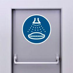 Autocollant Panneau Démarrer le gicleur d'eau dans l'ordre de lancement - ISO7010 - M043