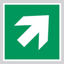 Autocollant Panneau Flèche de direction 45° Évacuation Secours - ISO7010 - A045