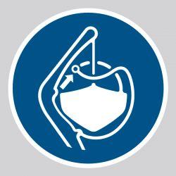 Autocollant Panneau Libérer les saisines de l'embarcation de sauvetage dans l'ordre de lancement - ISO7010 - M045