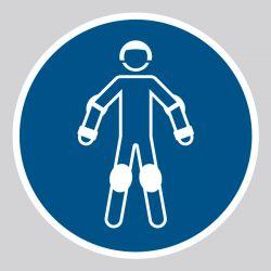 Autocollant Panneau Porter un équipement de protection pour sports à roulettes - ISO7010 - M049