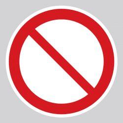 Autocollant Panneau interdiction générale - ISO7010 - P001