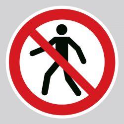 Autocollant Panneau interdit aux piétons - ISO7010 - P004