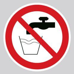 Autocollant Panneau eau non potable - ISO7010 - P005