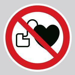 Autocollant Panneau interdit aux personnes porteuses d'un stimulateur cardiaque - ISO7010 - P007