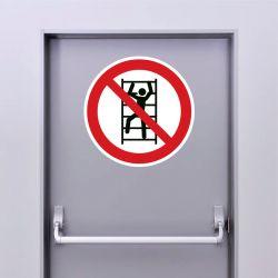 Autocollant Panneau escalade interdite - ISO7010 - P009