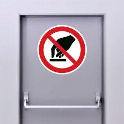 Autocollant Panneau interdiction de toucher - ISO7010 - P010