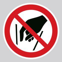 Autocollant Panneau ne pas mettre les mains - ISO7010 - P015
