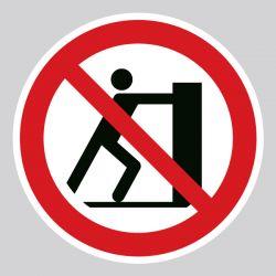 Autocollant Panneau interdiction de pousser - ISO7010 - P017