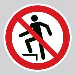 Autocollant Panneau interdiction de marcher sur la surface - ISO7010 - P019