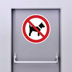 Autocollant Panneau interdit aux chiens - ISO7010 - P021