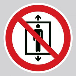 Autocollant Panneau ne pas utiliser cet ascenseur pour des personnes - ISO7010 - P027