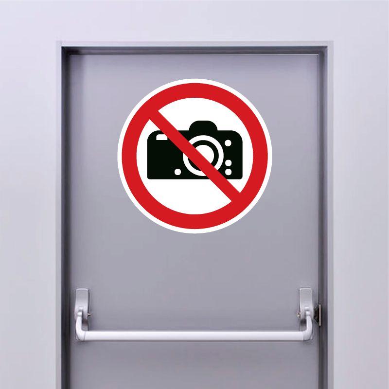 Autocollant Panneau interdiction de photographier - ISO7010 - P029
