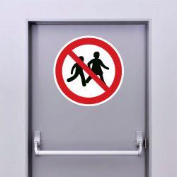 Autocollant Panneau accès interdit aux enfants - ISO7010 - P036
