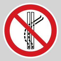 Autocollant Panneau interdiction de quitter la piste de remontée - ISO7010 - P037